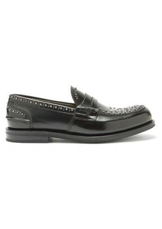 Church's Pembrey rubber-sole studded leather penny loafers