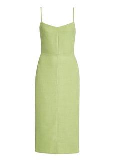 Ciao Lucia - Women's Sabina Open-Back Midi Dress - Green/yellow - Moda Operandi