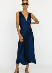 Ciao Lucia Caterina V-Neck Midi Silk Slip Dress