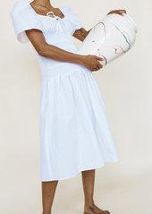 Ciao Lucia Chiara Smocked Cotton Midi Dress