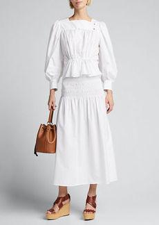 Ciao Lucia Clio Smocked Maxi Skirt