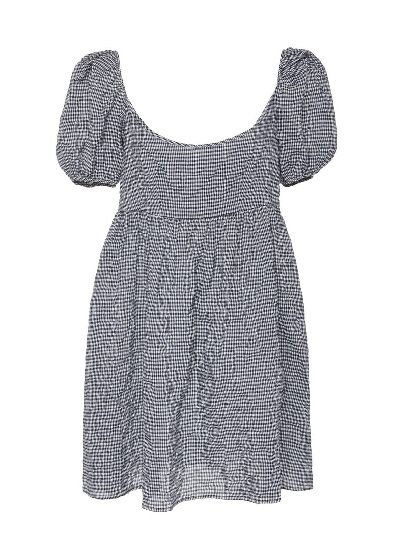 Ciao Lucia Delfina Printed Cotton-Blend Mini Dress