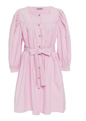 Ciao Lucia Fabianna Belted Cotton Shirt Dress