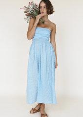 Ciao Lucia Gia Strapless Smocked Dress