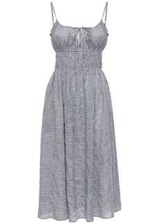 Ciao Lucia Gabriela Cotton Blend Gingham Mini Dress