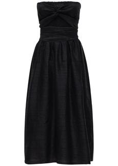 Ciao Lucia Gia Strapless Silk Gauze Midi Dress