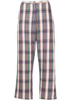 Ciao Lucia plaid-check cropped trousers