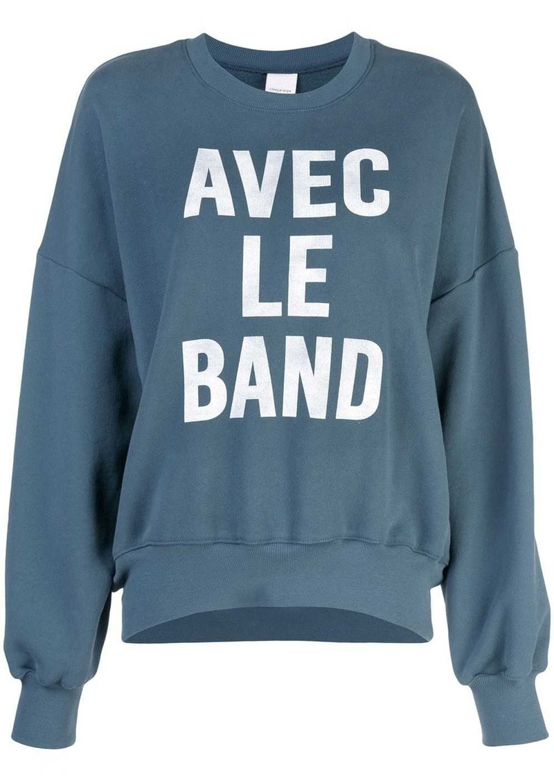 Cinq a Sept With The Band sweatshirt
