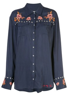 Cinq a Sept Lexi floral embroidered shirt