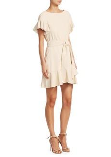 Cinq a Sept Aimee Leather Tie Waist Dress