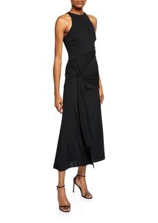 Cinq a Sept Alex Knotted Front Cocktail Dress
