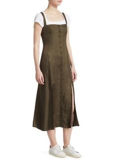 Cinq a Sept Alexa Cupro Twill Slip Dress