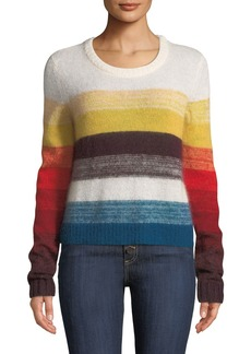 Cinq a Sept Alizeh Colorblock Mohair Pullover Sweater