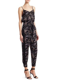 Cinq a Sept Amia Sleeveless Floral Jumpsuit