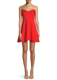 Cinq a Sept Ani Strapless Sweetheart Mini Dress