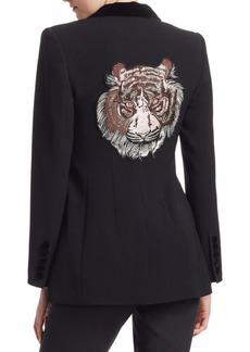 Cinq a Sept Ariella Tiger Embroidered Blazer