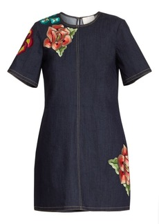 Cinq a Sept Ashton Embroidered Denim Dress