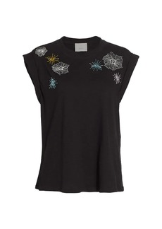 Cinq a Sept Bella Floral Embroidered Top