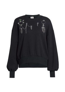 Cinq a Sept Blaire Crystal-Embellished Cotton Sweatshirt