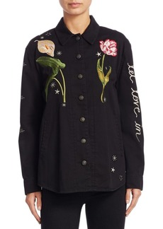 Cinq a Sept Botanical Canyon Denim Jacket