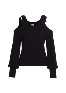 Cinq a Sept Brianna Cashmere Cold-Shoulder Sweater