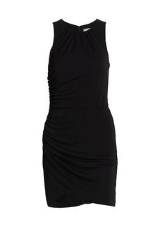 Cinq a Sept Brodie Matte Jersey Ruched Sheath Dress