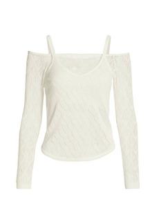 Cinq a Sept Callista Layered Off-The-Shoulder Sweater