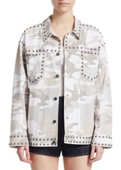 Cinq a Sept Chiara Studded Camouflage Jacket