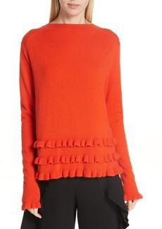 Cinq a Sept Cinq à Sept Adiella Ruffle Hem Cashmere Sweater
