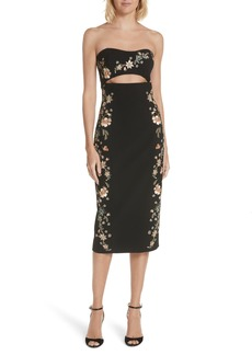 Cinq a Sept Cinq à Sept Clemence Embroidered Strapless Dress
