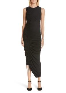 Cinq a Sept Cinq à Sept Cora Asymmetrical Ruched Dress