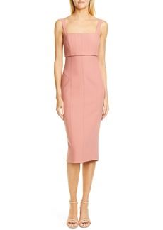 Cinq a Sept Cinq à Sept Dakota Back Cutout Body-Con Midi Dress