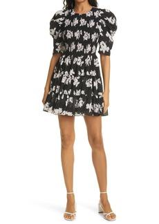 Cinq a Sept Cinq à Sept Hollis Floral Puff Sleeve Tiered Ruffle Dress