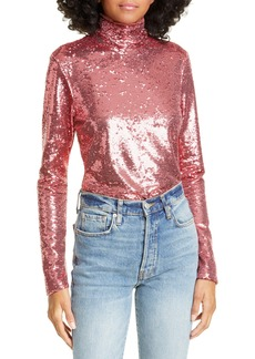 Cinq a Sept Cinq à Sept Joan Sequin Turtleneck Top