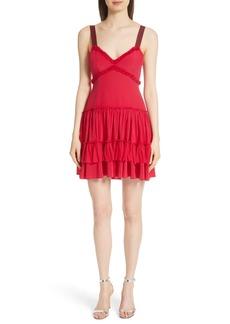 Cinq a Sept Cinq à Sept Livia Ruffle Hem Silk Dress
