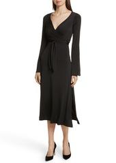 Cinq a Sept Cinq à Sept Lourdes Jersey Wrap Midi Dress