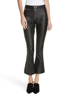 Cinq a Sept Cinq à Sept Marcelle Crop Flare Leather Pants
