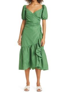 Cinq a Sept Cinq à Sept Megan Ruffle Midi Cocktail Dress