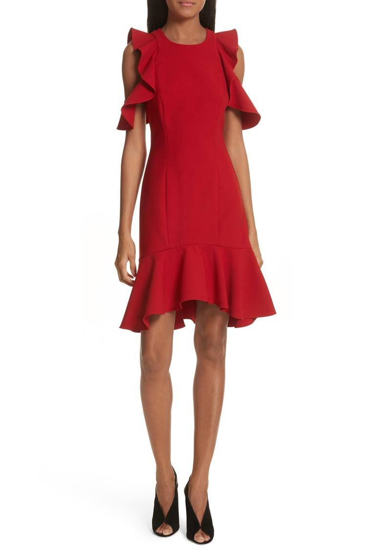 Cinq A Sept Cinq à Sept Micah Ruffle Cold Shoulder Dress Dresses