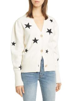 Cinq a Sept Cinq à Sept Morgan Star Embroidered Cotton Blend Cardigan