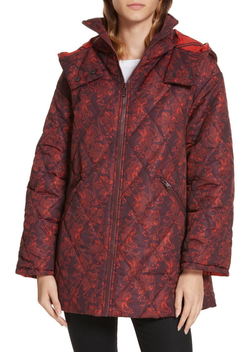 58490528573 Cinq a Sept Cinq à Sept Nico Floral Print Hooded Jacket