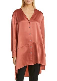 Cinq a Sept Cinq à Sept Opal High/Low Silk Shirt
