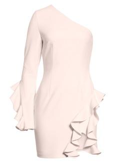 Cinq a Sept Cinq à Sept Pia Ruffle Trim One-Shoulder Dress