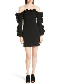 Cinq a Sept Cinq à Sept Rosemarie Ruffle Off the Shoulder Dress