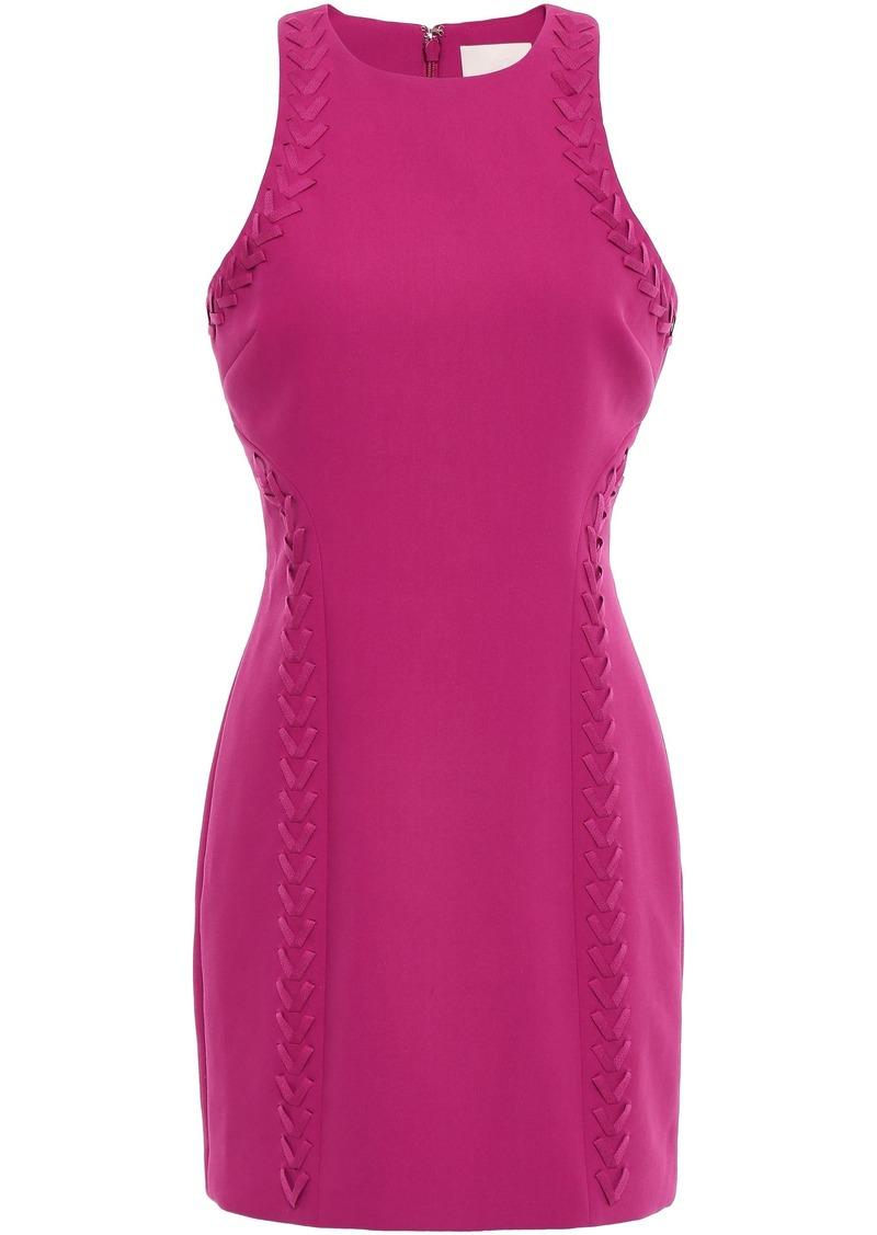 Cinq a Sept Cinq À Sept Woman Alison Whipstitched Ponte Mini Dress Fuchsia
