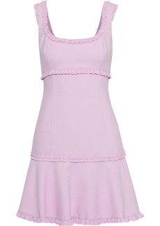 Cinq a Sept Cinq À Sept Woman Ana Fluted Ruffle-trimmed Cady Mini Dress Lilac