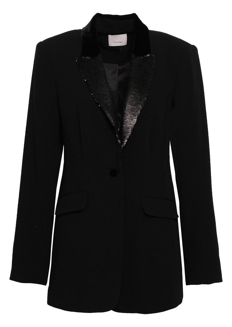 Cinq a Sept Cinq À Sept Woman Ariella Embellished Crepe Blazer Black