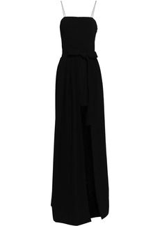 Cinq a Sept Cinq À Sept Woman Asymmetric Stretch-crepe Gown Black