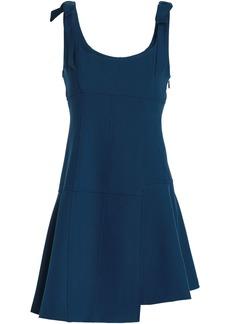 Cinq a Sept Cinq À Sept Woman Jeanette Bow-detailed Cady Mini Dress Storm Blue