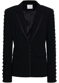 Cinq a Sept Cinq À Sept Woman Button-embellished Crepe Blazer Black